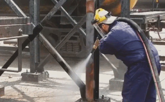 We can sandblast any industrial/commercial project such as bridges, warehouse, machinery, parts, public road lines, steel structures, concrete, buildingsm etc. You name it, we can do it. We can sandblast a broad range of environments and applications including interior and exterior applications as well. Let us help you with your industrial or commercial sandblasting needs.