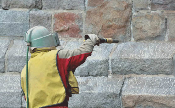 Soda blasting gentler than typical sandblasting and is used to smooth a surface or remove contaminant off of a surface. Soda blasting uses sodium bicarbonate which makes is suitable for chrome, plastics, and even glass. It can also be used as a deodorizer, cleaning mold and smoke fires.